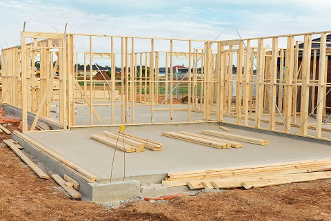 New Home Construction Framing and Foundation